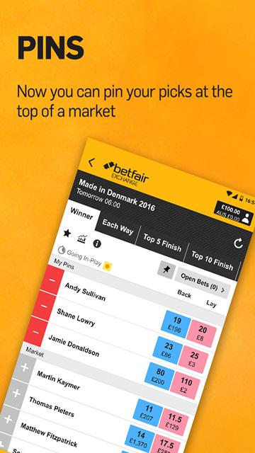 Betfair Exchange Download