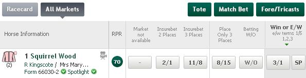 betting insurebet 3 places in the body